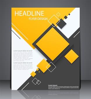 Brochura de negócios digital abstrata ou panfleto
