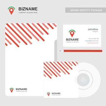 Brochura de negócios e design estacionário