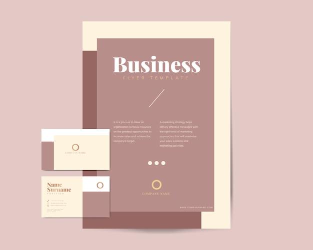 Brochura de negócios e modelos de cartão de nome