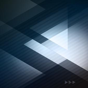 Brochura de negócios elegante ilustração geométrica de fundo azul