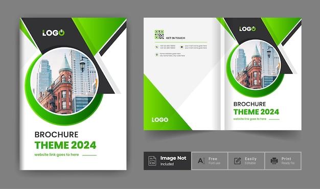Brochura de negócios modelo de design tema perfil da empresa apresentação da página de rosto