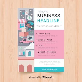 Brochura de negócios