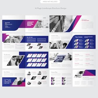 Brochura de paisagem da empresa