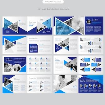 Brochura de paisagem de página