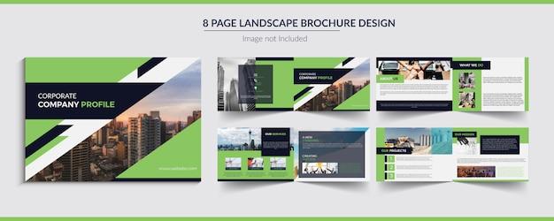 Brochura de paisagem