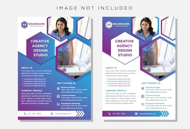 Brochura de panfleto, modelo de panfleto de tamanho a4 de negócios