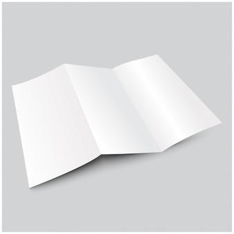 Brochura de papel dobrável em três partes a4 em branco.