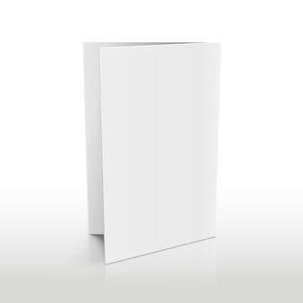 Brochura de pasta em branco branco. modelo 3d