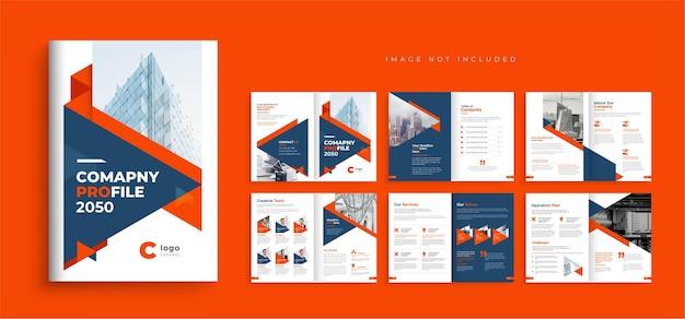Brochura de perfil da empresa layout de design de modelo moderno mínimo brochura comercial de várias páginas