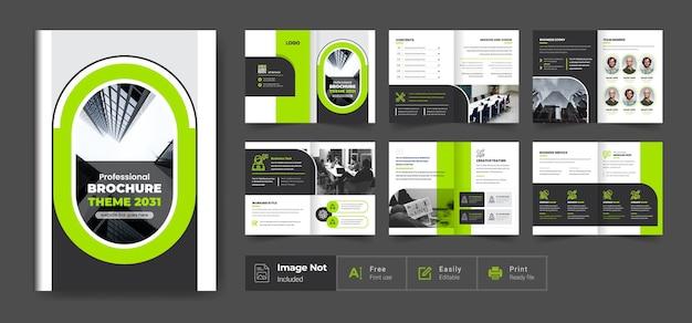 Brochura de perfil da empresa, layout, design, forma moderna, brochura comercial minimalista