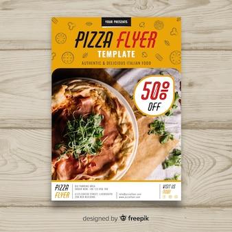 Brochura de pizza fotográfica