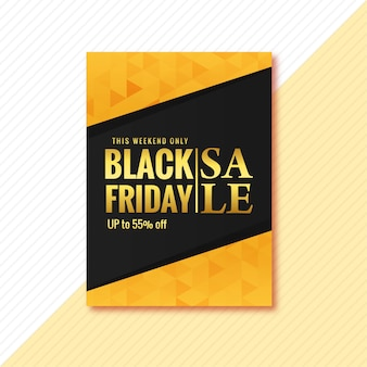 Brochura de pôster de venda black friday