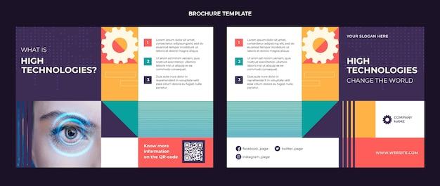 Brochura de tecnologia mínima de design plano