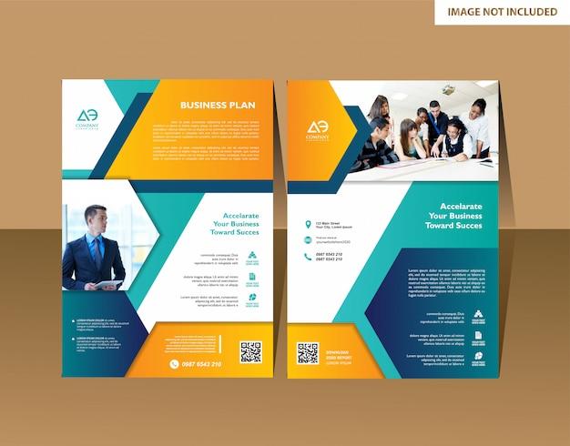 Brochura de vetor design moderno modelo de informação gráfica