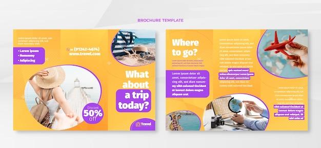 Brochura de viagem plana