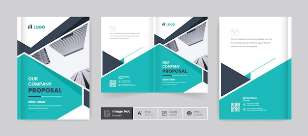 Brochura design modelo de capa perfil da empresa relatório anual página de rosto moderno colorido bifold