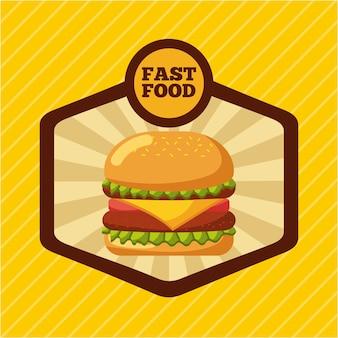 Brochura do menu do restaurante de fast food