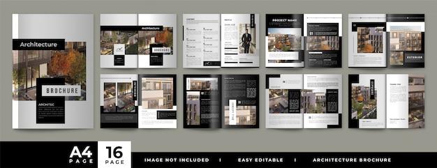 Brochura do portfólio de arquitetura