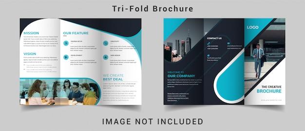 Brochura dobrável em três partes do negócio corporativo criativo