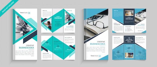Brochura dobrável em três partes do negócio