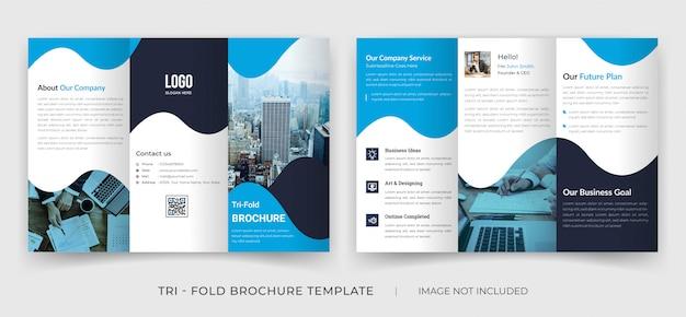 Brochura dobrável em três partes do perfil da empresa