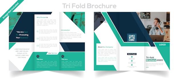 Brochura dobrável em três partes para negócios