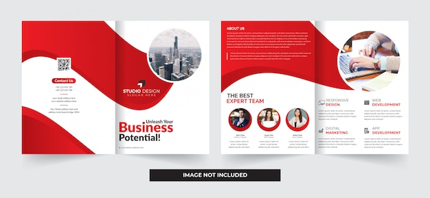 Brochura dupla de negócios corporativos