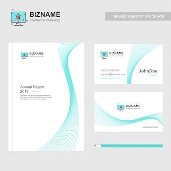 Brochura e cartão de negócios