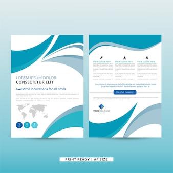 Brochura empresarial corporativa ondulada