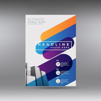 Brochura empresarial multicolorida