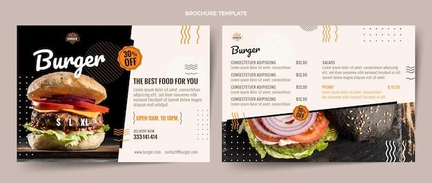 Brochura flat fast food