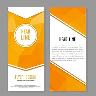 Brochura flyer design modelo de layout