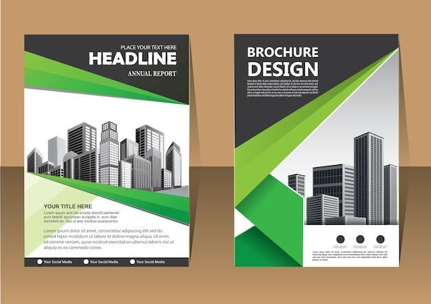 Brochura flyer layout modelo de negócio para o relatório anual