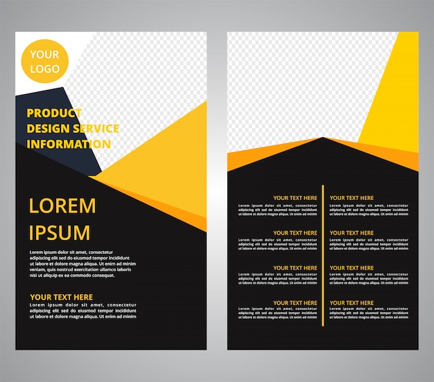 Brochura flyer negócios designs