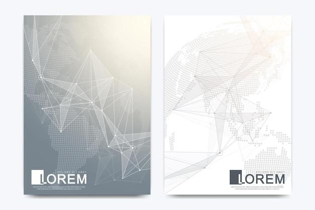 Brochura futurista em tamanho a4