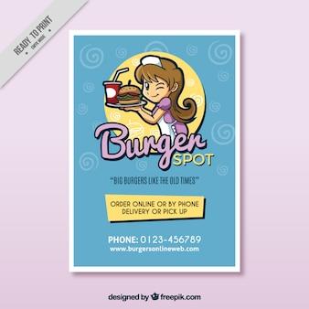 Brochura hamburger agradável