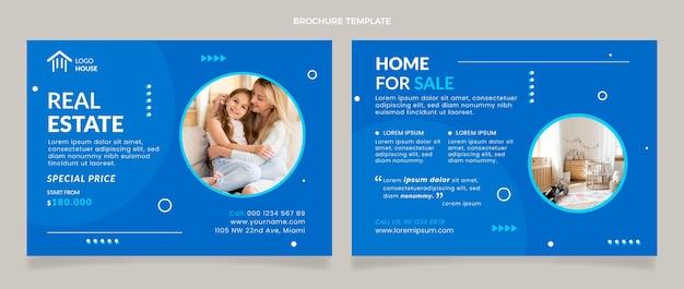 Brochura imobiliária plana abstrata geométrica