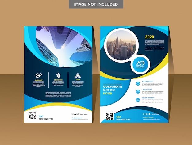 Brochura modelo capa design relatório anual folheto revista ou folheto