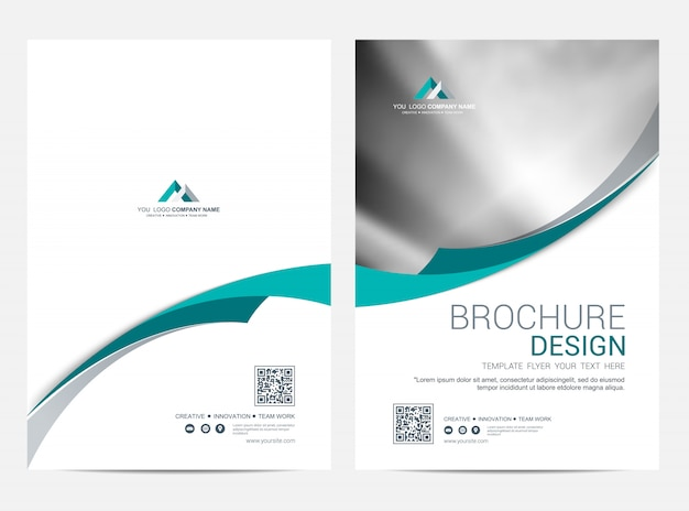 Brochura modelo flyer design vector fundo