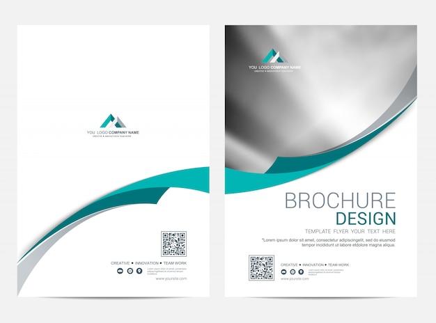 Brochura modelo flyer design vector fundo