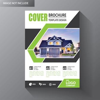 Brochura modelo layout capa projeto anual relatório