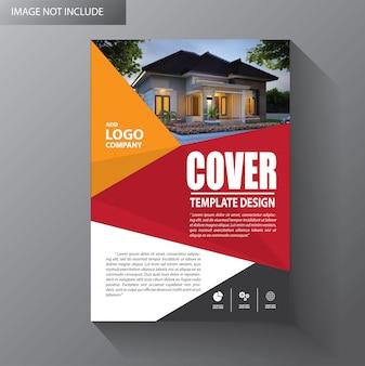 Brochura modelo layout capa relatório anual