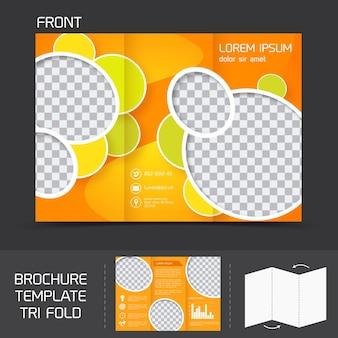 Brochura modelo tri fold