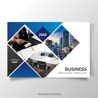 Brochura moderna de relatório anual horizontal