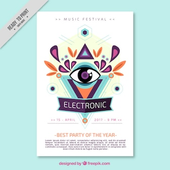 Brochura música eletrônica Abstract