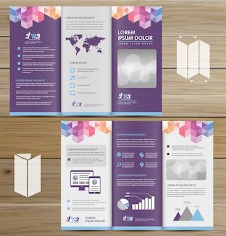 Brochura negócios tri fold folheto
