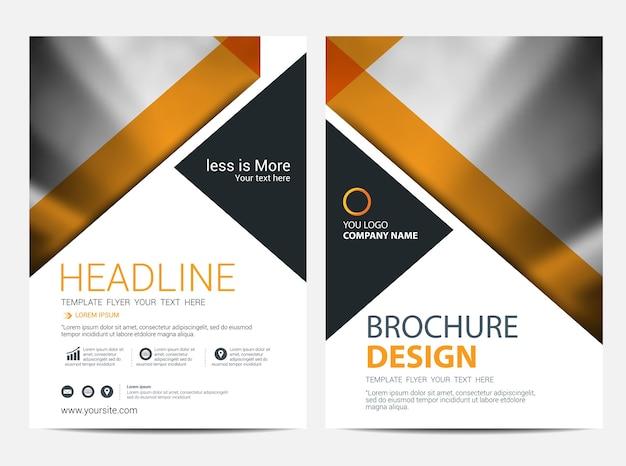 Brochura ou folheto modelo de plano de fundo