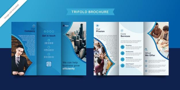 Brochura profissional com três dobras
