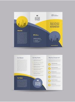 Brochura profissional de três dobras Vetor Premium