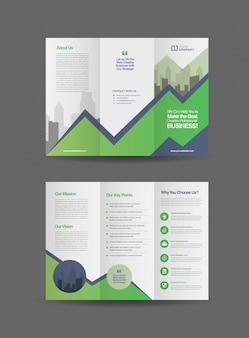 Brochura profissional de três dobras